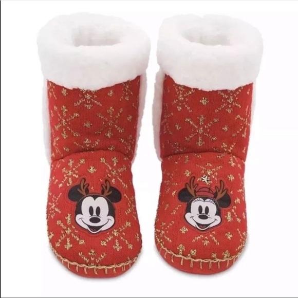 399eee5978b4e Disney Mickey Minnie Mouse slipper boots SZ 9/10 NWT
